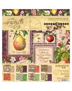"Fruit & Flora 8"" x 8"" Paper Pad - Graphic 45"
