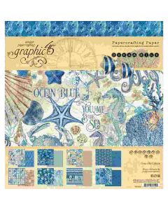 """Ocean Blue 8"""" x 8"""" Paper Pad - Graphic 45*"""