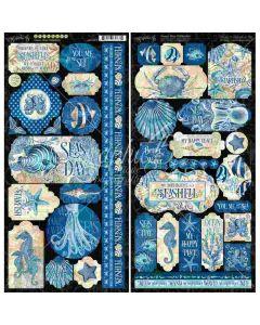 Ocean Blue Stickers - Graphic 45*