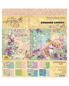 """Fairie Wings 8"""" x 8"""" Paper Pad - Graphic 45*"""