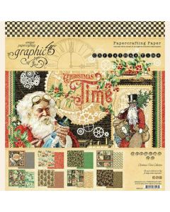 """Christmas Time 8"""" x 8"""" Paper Pad - Graphic 45"""