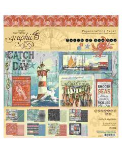 """Catch of the Day 8'' x 8"""" Paper Pad - Graphic 45*"""