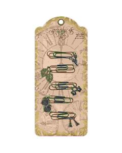 Metal Paper Clips with Charms - Staples - Graphic 45*