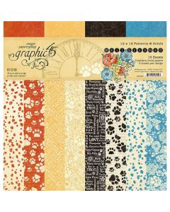 """Well Groomed 12"""" x 12"""" Patterns & Solids Pad - Graphic 45"""