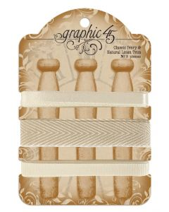 Classic Ivory & Natural Linen Trim - G45 Staples Embellishments - Graphic 45