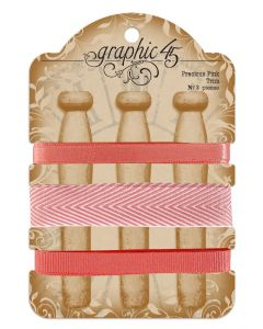 Precious Pink Trim - G45 Staples Embellishments - Graphic 45