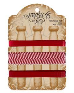 Triumphant Red Trim - G45 Staples Embellishments - Graphic 45