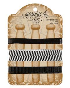 Photogenic Black Trim - G45 Staples Embellishments - Graphic 45