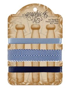 Bon Voyage & French Blue Trim - G45 Staples Embellishments - Graphic 45
