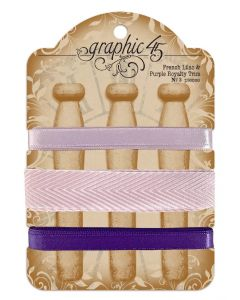 French Lilac & Purple Royalty Trim - G45 Staples Embellishments - Graphic 45