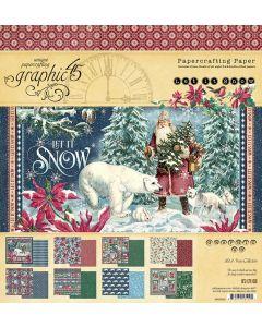 "Let it Snow 8"" x 8"" Pad - Graphic 45"