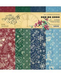 "Let it Snow 12"" x 12"" Patterns & Solids Pad - Graphic 45"