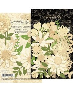 Shades of Ivory Flower Assortment - G45 Staples Embellishments - Graphic 45