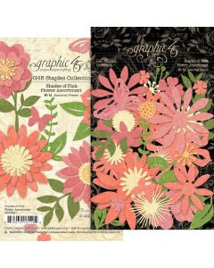 Shades of Pink Flower Assortment - G45 Staples Embellishments - Graphic 45