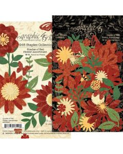Shades of Red Flower Assortment - G45 Staples Embellishments - Graphic 45