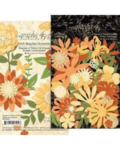 Shades of Yellow & Orange Flower Assortment - G45 Staples Embellishments - Graphic 45