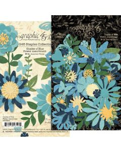 Shades of Blue Flower Assortment - G45 Staples Embellishments - Graphic 45