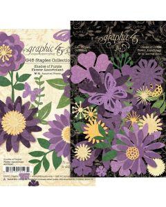 Shades of Purple Flower Assortment - G45 Staples Embellishments - Graphic 45