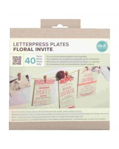 Floral Invite Letterpress Plates - We R packaging