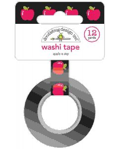 Apple A Day Washi Tape - School Days - Doodlebug Design