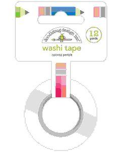 Colored Pencils Washi Tape - School Days - Doodlebug Design