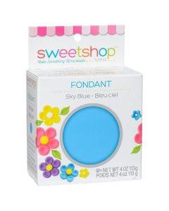 Sky Blue Fondant, 4 oz - Sweetshop*