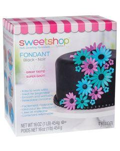 Black Fondant, 1 lb - Sweetshop*
