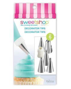 Tool Decorator Tips, 6 Piece - Sweetshop*