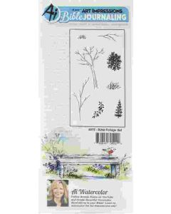 Bible Foliage Bible Journaling Cling Cushion Rubber Stamps - Art Impressions