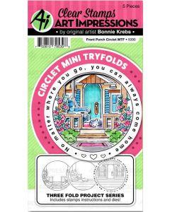 Art Impressions Front Porch Circlet Mini Tryfolds