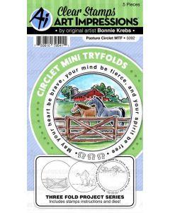 Art Impressions Pasture Circlet Die and stamp set