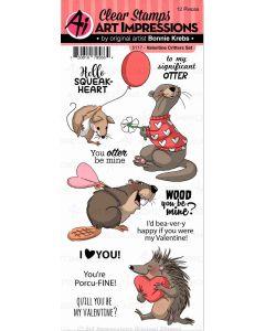 Art Impressions Valentine Critters