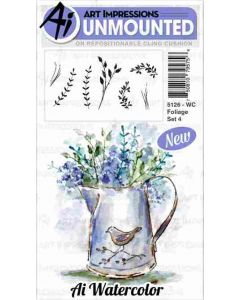 Art Impressions Foliage Watercolor Stamps