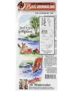 As the Deer Bible Journaling Cling Cushion Rubber Stamps - Art Impressions