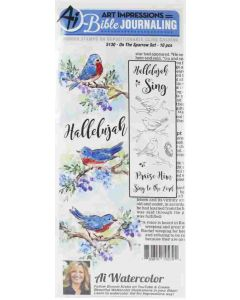 On The Sparrow Bible Journaling Cling Cushion Rubber Stamps - Art Impressions