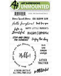 Art Impressions Sentiments 2 Stamp Set