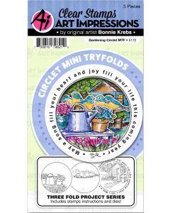 Gardening Circlet Mini TryFolds Stamp & Die Set - Art Impressions