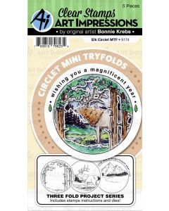 Elk Circlet Mini TryFolds Stamp & Die Set - Art Impressions