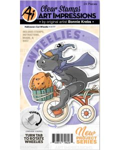 Halloween Cat Wheelie Stamps & Dies - Art Impressions