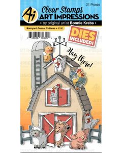 Barnyard Animal Cubbies Stamps & Dies - Art Impressions