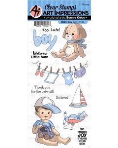 Baby Boy Set Clear Stamps - Art Impressions - Clearance