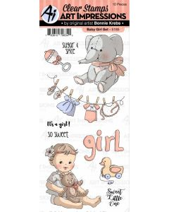 Baby Girl Set Clear Stamps - Art Impressions