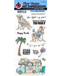 Happy Trails Set Clear Stamps - Art Impressions