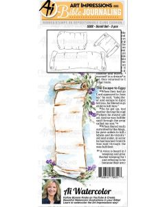 Scroll Set Bible Journaling Cling Cushion Rubber Stamps - Art Impressions
