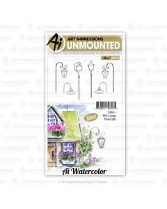 Lamp Post Set Watercolor Stamps - Art Impressions