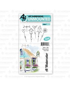 Decorative Post Set Watercolor Stamps - Art Impressions