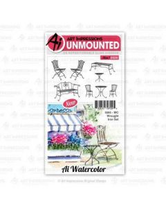 Wrought Iron Set Watercolor Stamps - Art Impressions