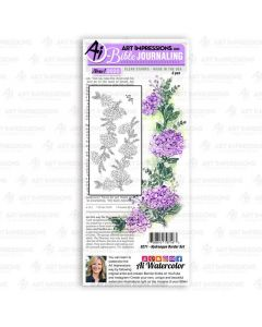 Hydrangea Border Bible Journaling Clear Stamps - Art Impressions