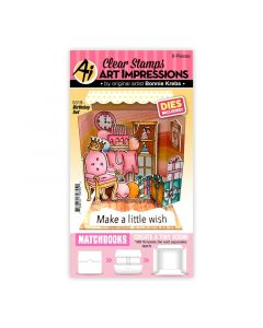 Birthday Stamps & Dies Set - Matchbooks - Art Impressions*