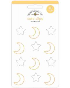 Stars & Moons Cute Clips - Candy Carnival - Doodlebug Design